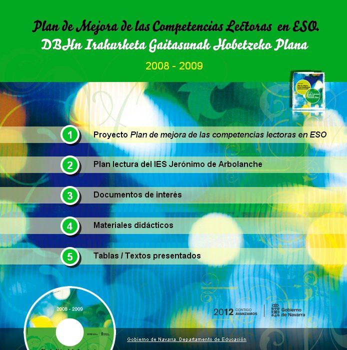 Plan de mejora de las competencias lectoras en ESO