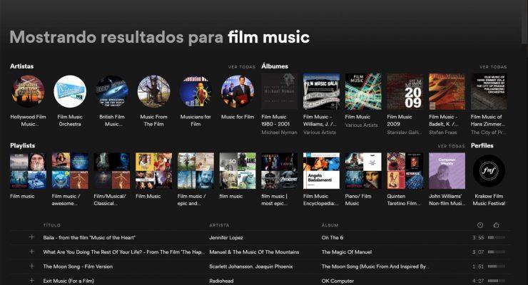 Música de cine en Spotify