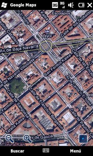 Figura 3 – El centro de Pamplona en Google Maps
