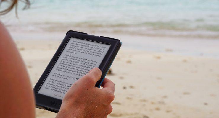 Lectura en un lector de libros digitales