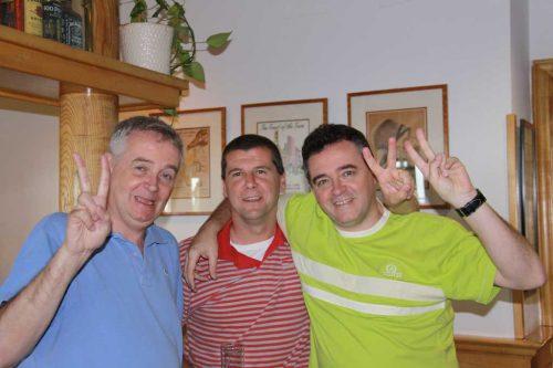 Prolegómenos del partido contra Chile: José Ángel, Óscar y Eduardo
