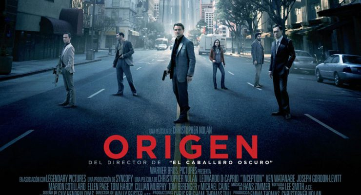 Cartel de la película Origen, de Christopher Nolan