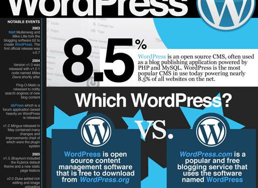 Una impresionante infografía sobre WordPress