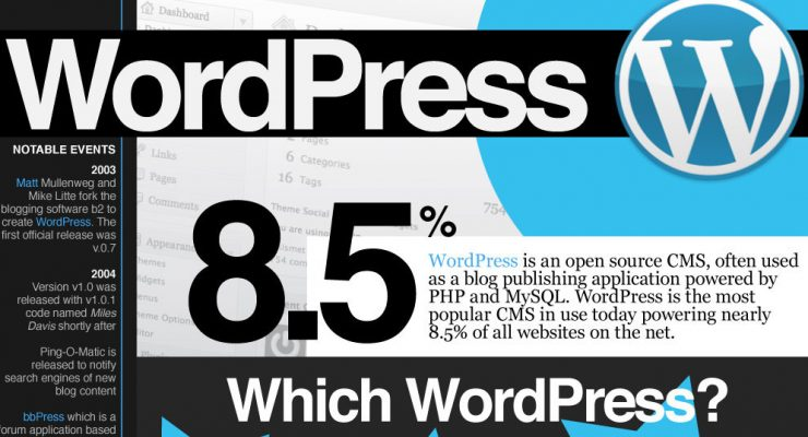 Infografía sobre WordPress