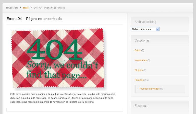 Figura 7 - Página de error 404 personalizada
