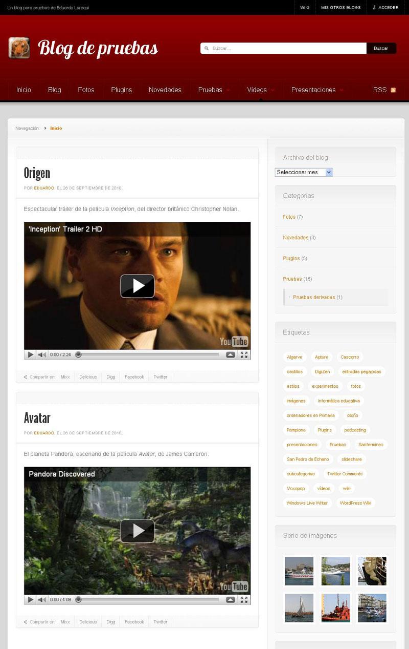 """Figura 6 - Página de archivo correspondiente al tipo de contenido """"vídeos"""""""