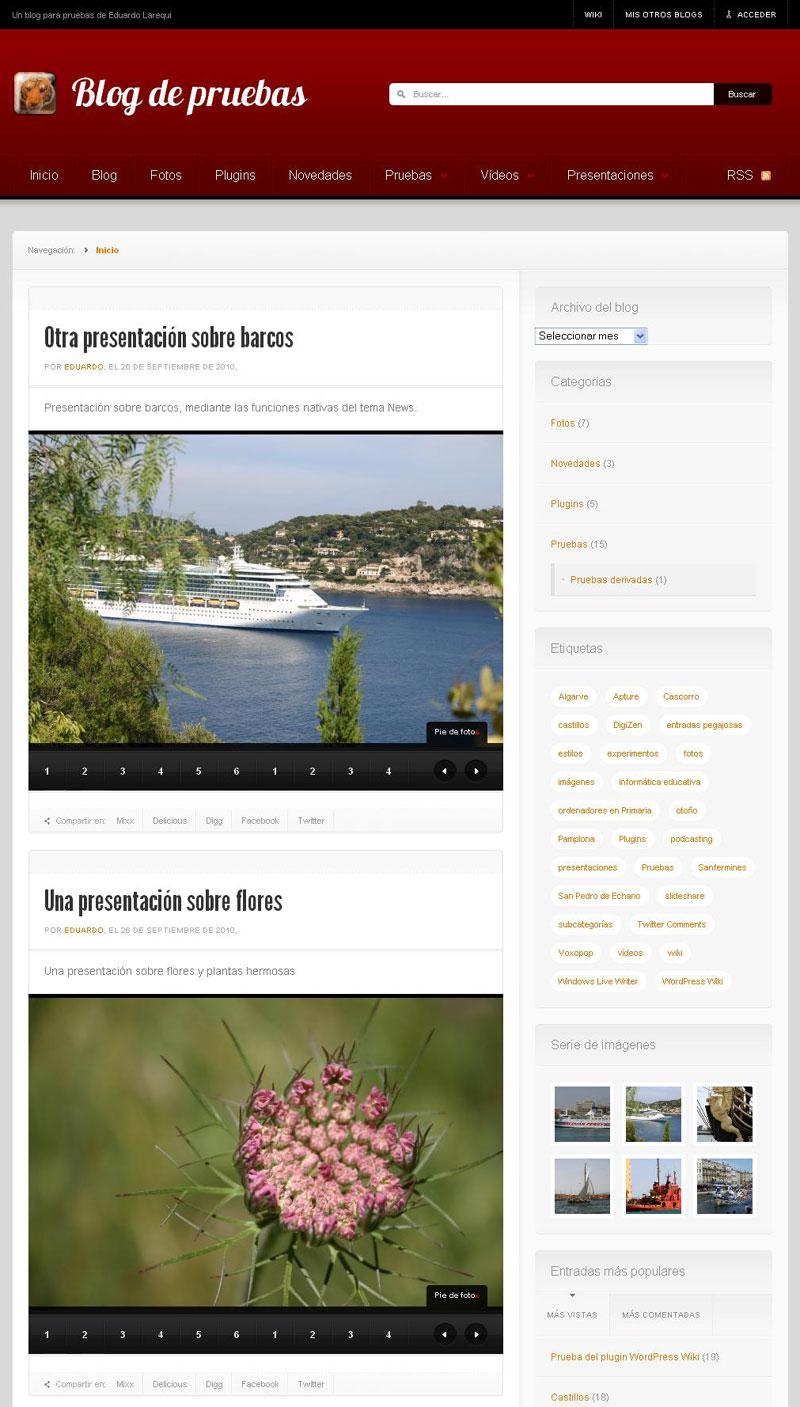 """Figura 7- Página de archivo correspondiente al tipo de contenido """"presentaciones"""""""