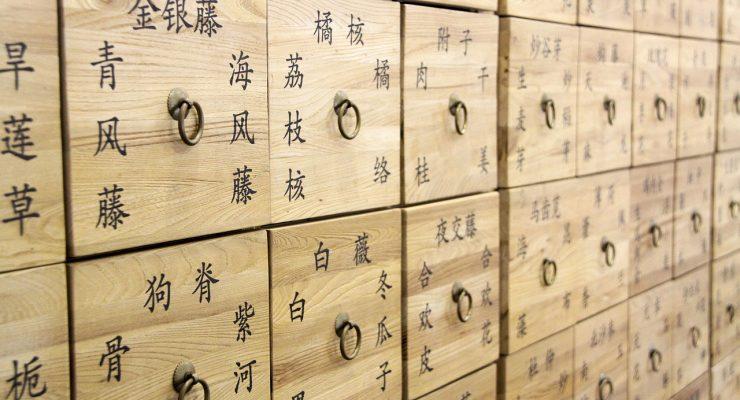 Cajones medicinales chinos