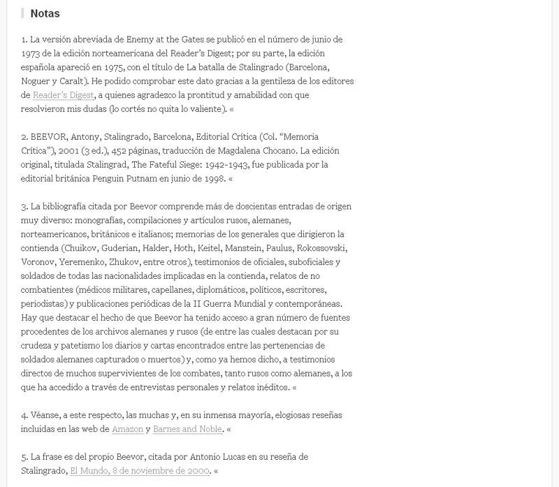 Figura 9 - Captura de pantalla de un artículo importado 2