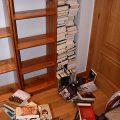 Derrumbe de un rimero de libros
