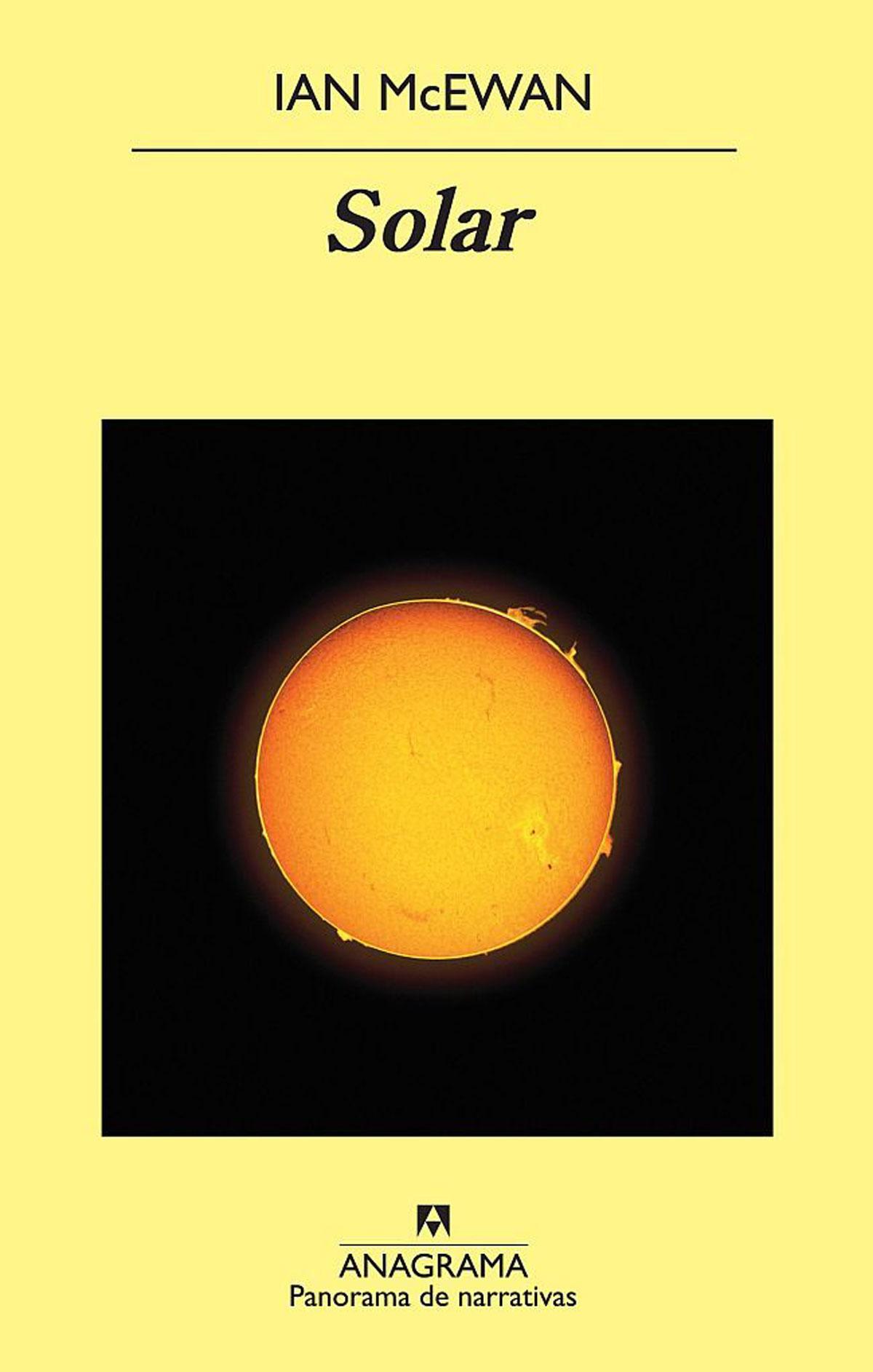 Portada de la novela Solar, de Ian McEwan