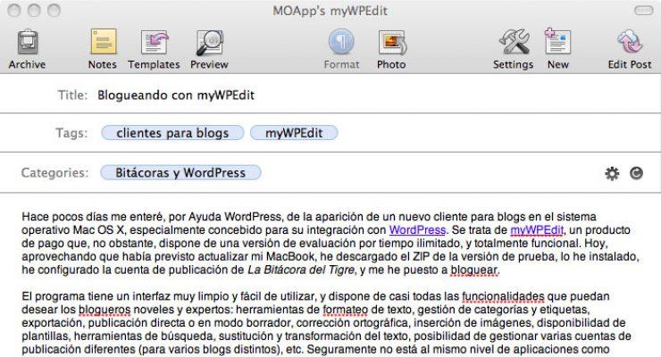 Blogueando con myWPEdit