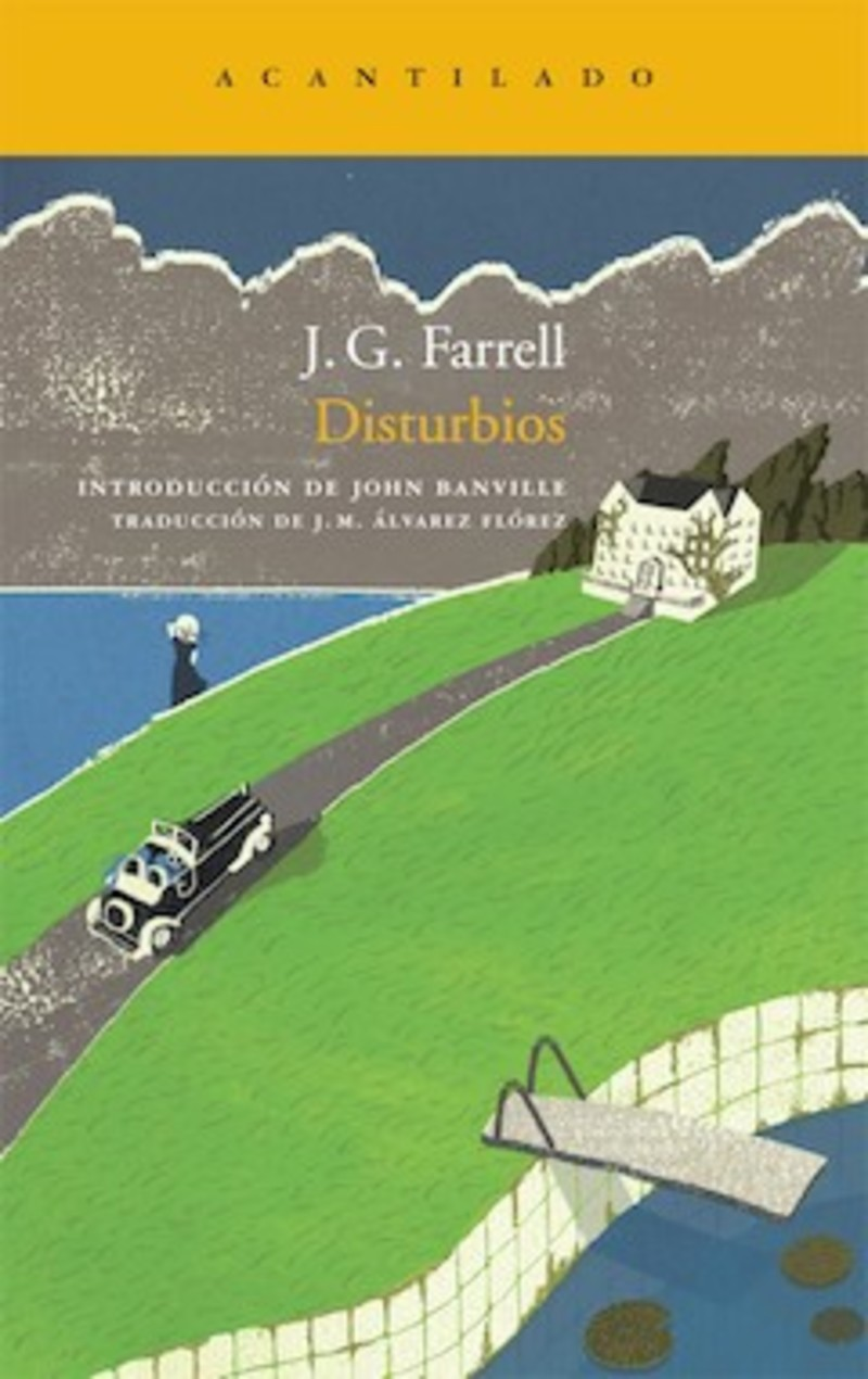 Portada de la novela Disturbios, de J.G. Farrell