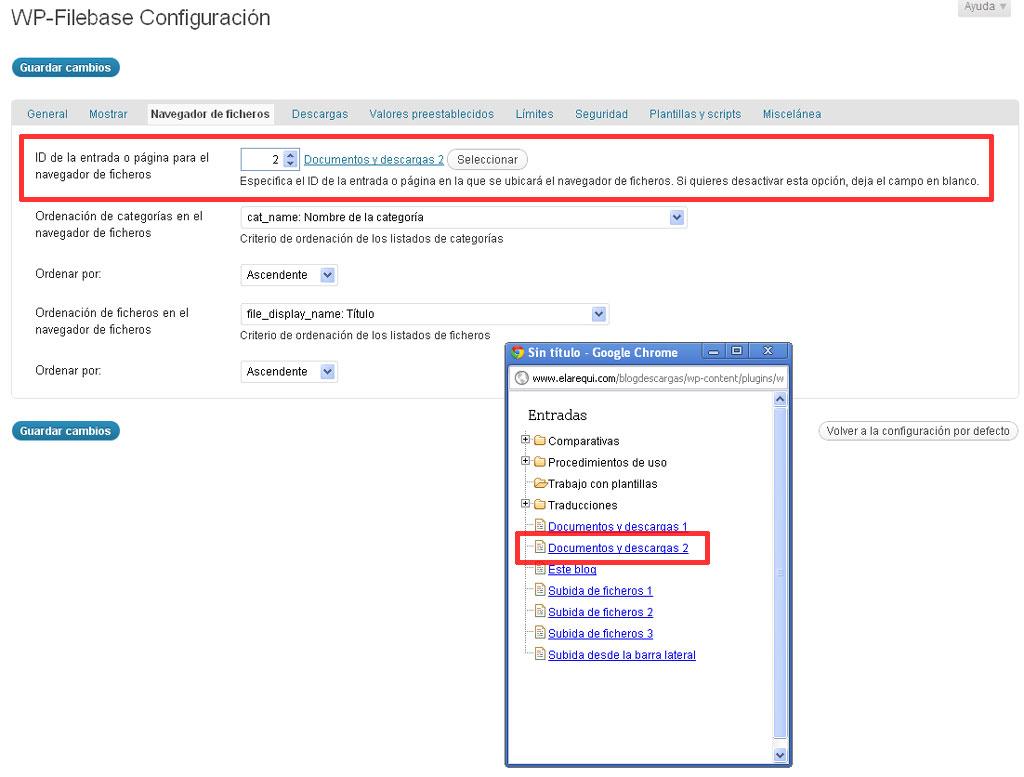 Figura 12 – Uso del navegador de ficheros