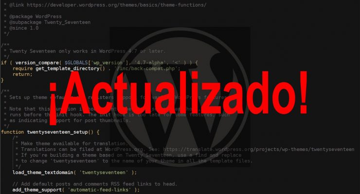 WordPress actualizado