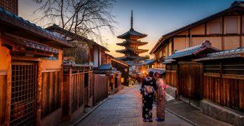 Geishas en Kyoto, Japón