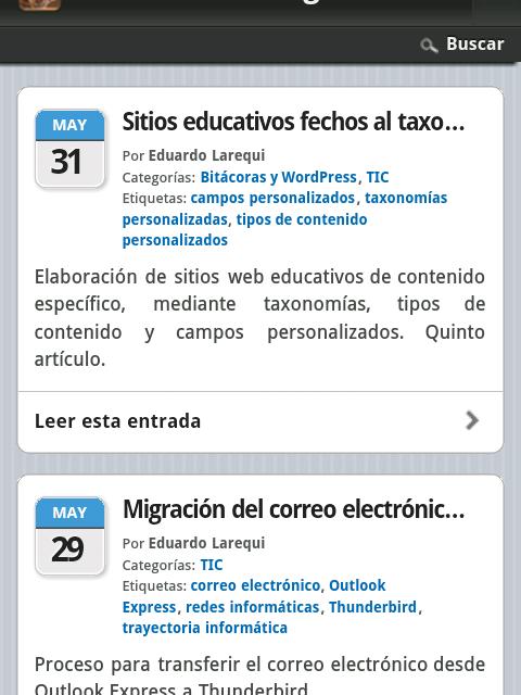 Nueva adaptación del blog para dispositivos móviles