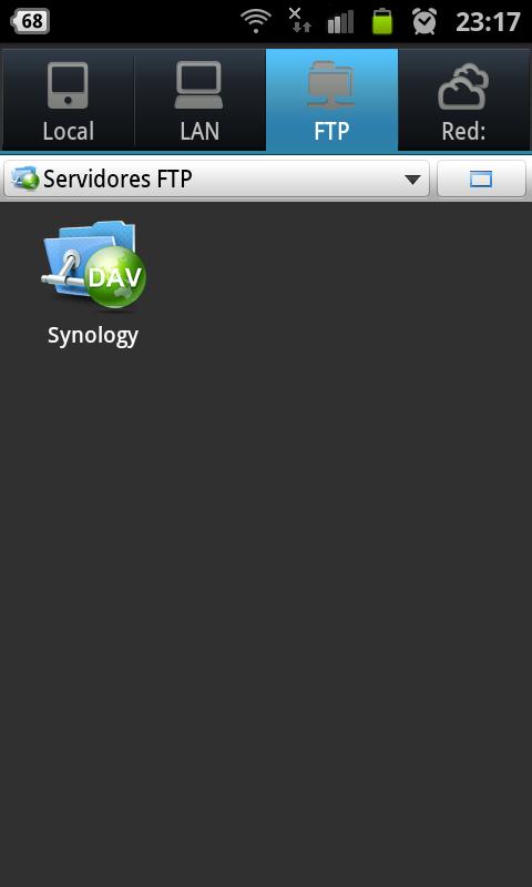 Figura 4. Acceso al servidor NAS con ES File Explorer (Android)