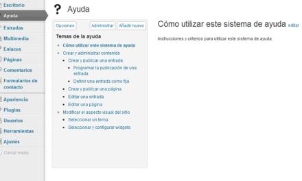 Ayuda personalizada para WordPress con el plugin WP-Help