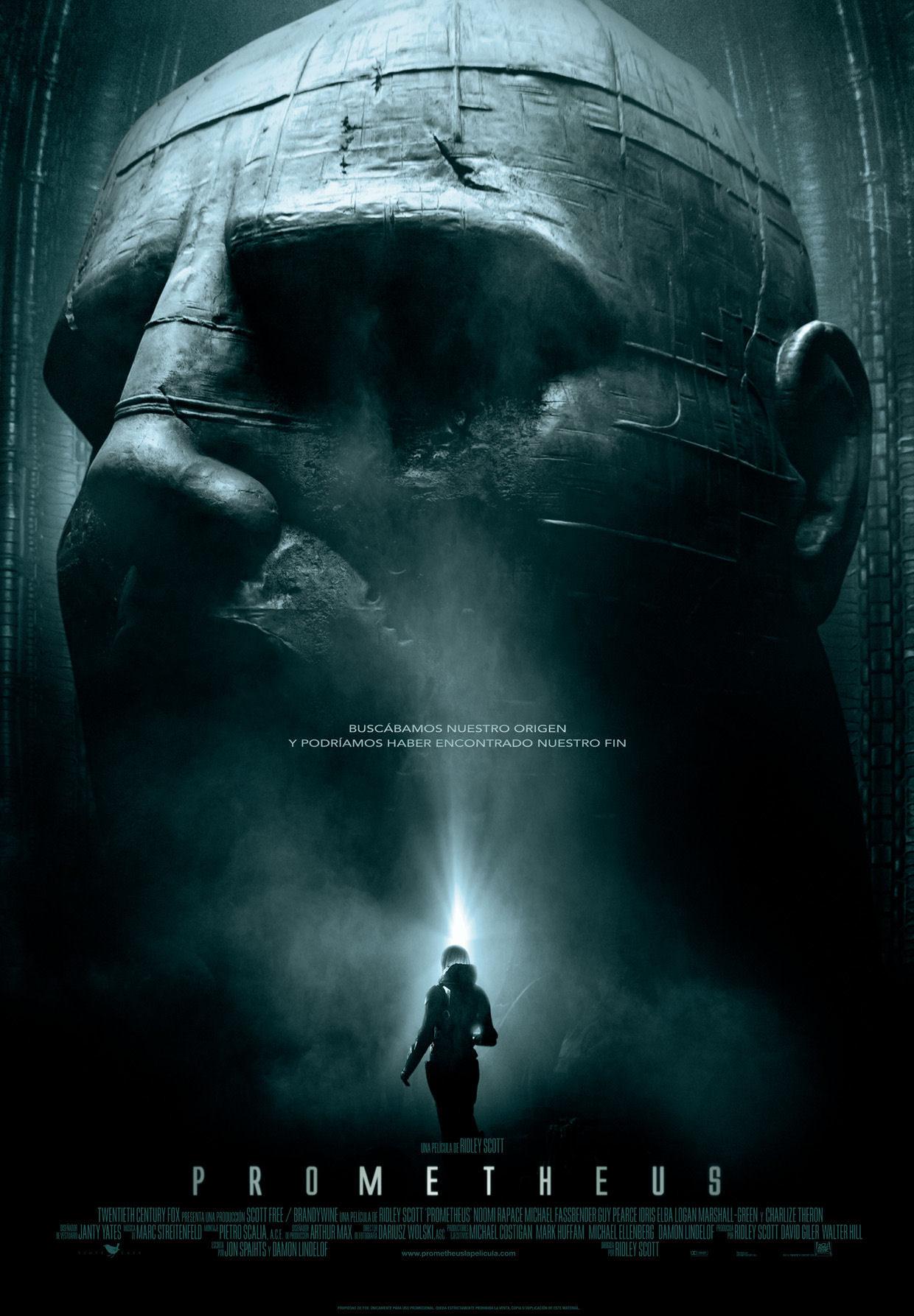 Cartel de la película Prometheus, de Ridley Scott