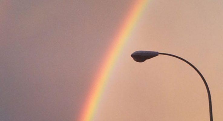 Un doble arco iris sobre Pamplona