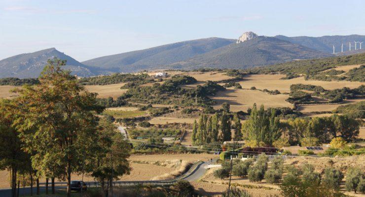 Paisaje de la Valdorba, cerca de Unzué