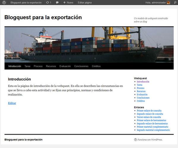 Blogquest para la exportación