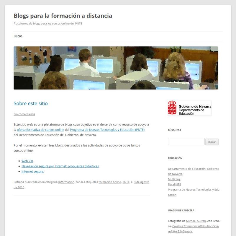 Blogs para la formación a distancia