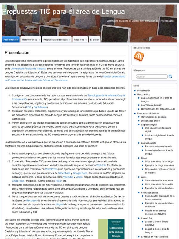 Propuestas TIC para el área de Lengua