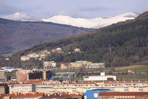 Pamplona y la ladera del monte San Cristóbal