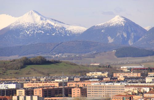Vista de los montes Txurregi y Gaztelu