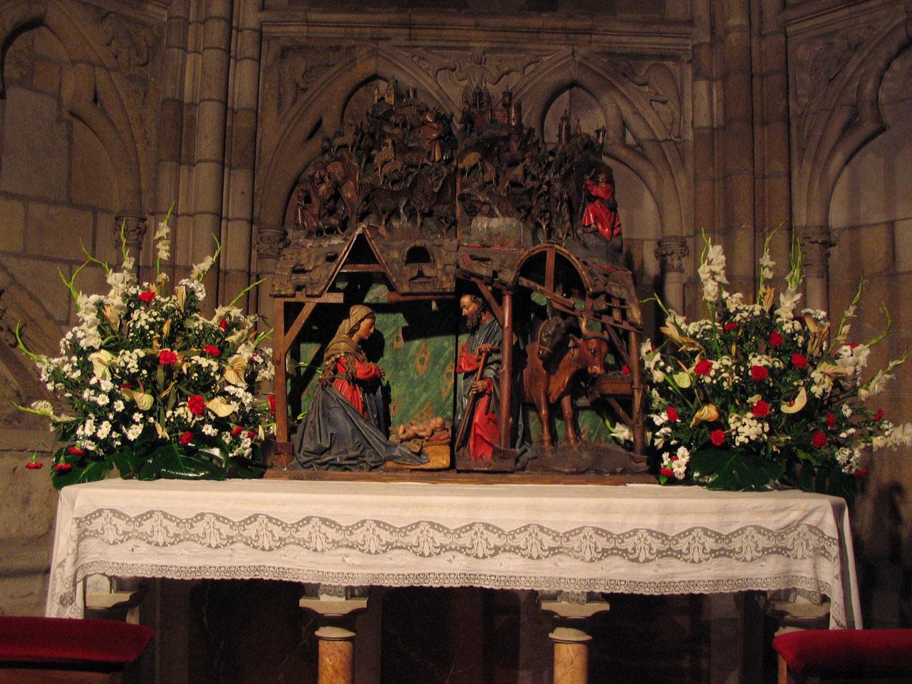 Nacimiento en la Catedral de León