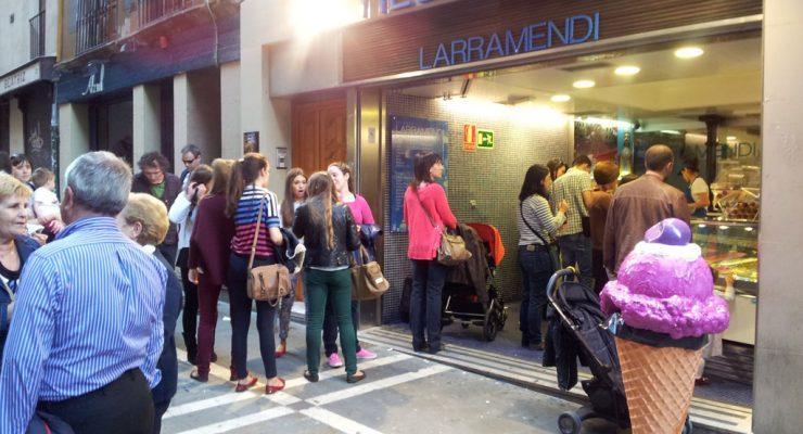 La heladería Larramendi, en la calle Estafeta