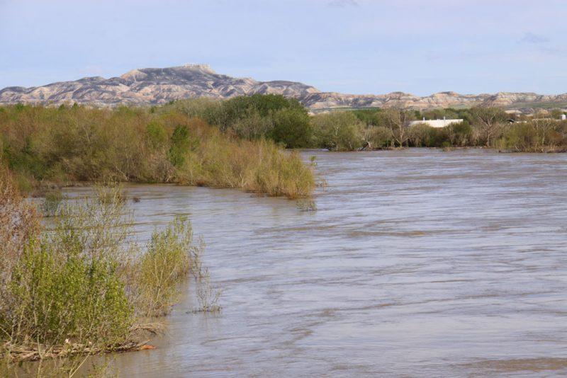 El Ebro, desbordado, entre Ribaforada y Fustiñana 2