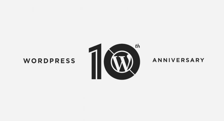 Décimo aniversario de WordPress