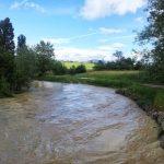 El río Elorz, a su paso por Torres de Elorz