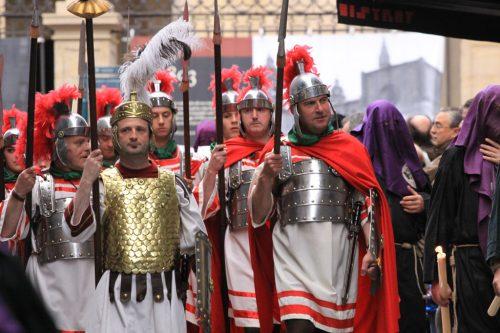 Grupo de legionarios romanos a pie