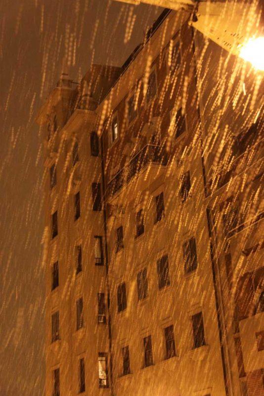 Nieve en la calle Aralar 6