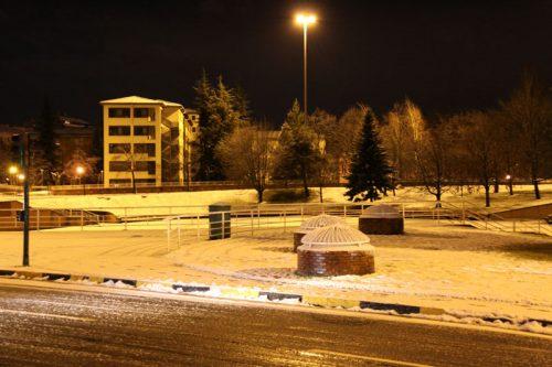 La Plaza de los Fueros, desde la Iglesia de los Paúles