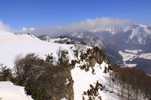 El Rincón de Belagua. Entre las nubes, Lapakiza de Linzola y a la izquierda, el Anie