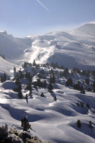 Vista desde la estación de esquí de Arette 3