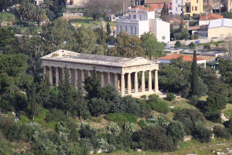 El templo Hefesteion (o Teséion), en el Ágora ateniense
