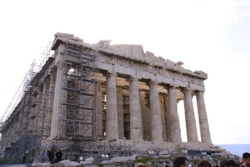 Partenón, Acrópolis de Atenas, fachada occidental