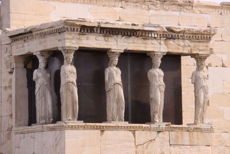Pórtico de las Cariátides en el Erecteión 2, Acrópolis de Atenas
