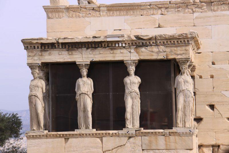 Pórtico de las Cariátides en el Erecteión 1, Acrópolis de Atenas