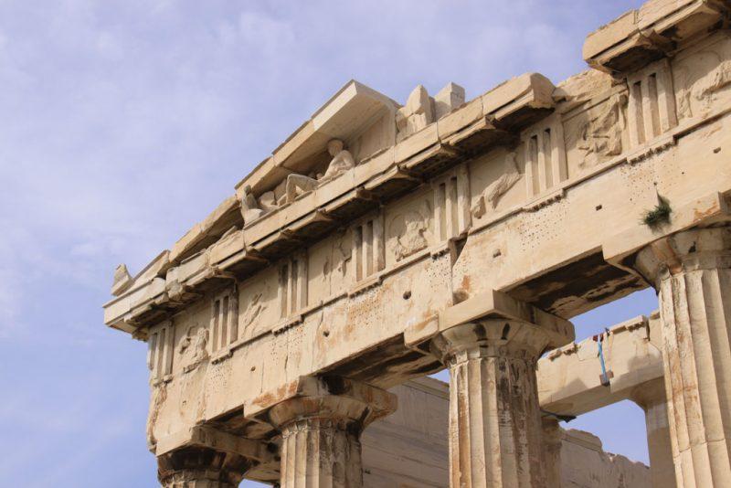 Partenón, Acrópolis de Atenas, fachada oriental