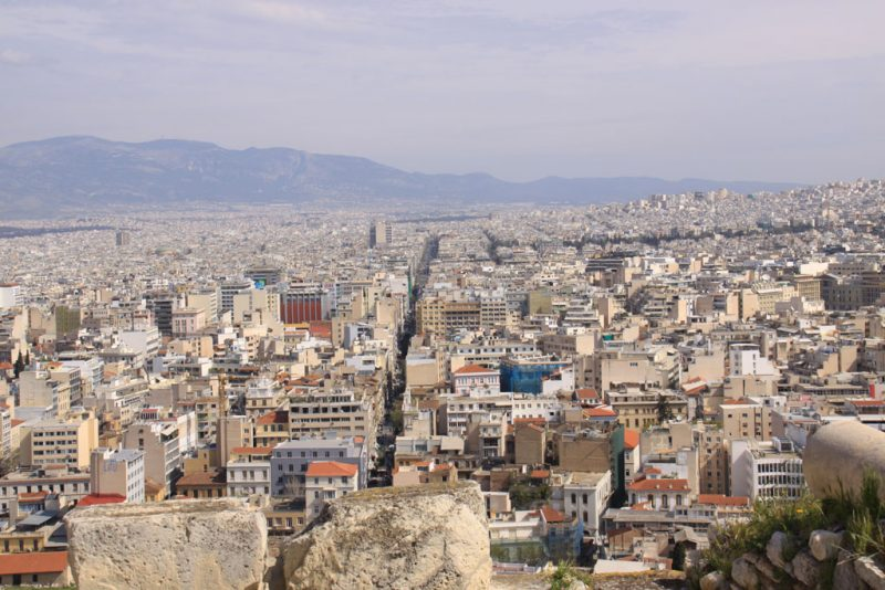 Vista de la ciudad de Atenas desde la Acrópolis