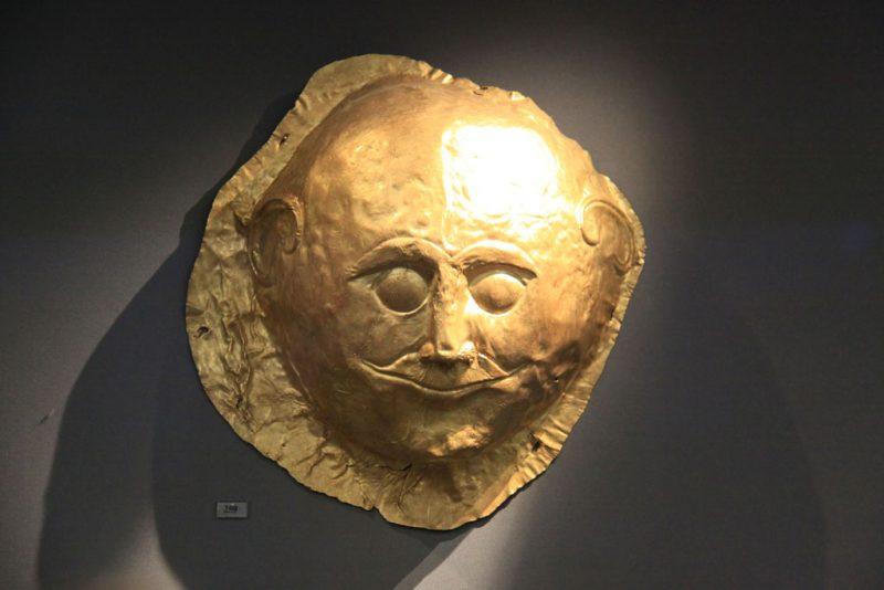 Máscara funeraria micénica, Museo Arqueológico Nacional, Atenas