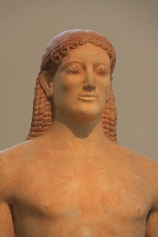 Kouros de Anavyssos, Museo Arqueológico Nacional, Atenas