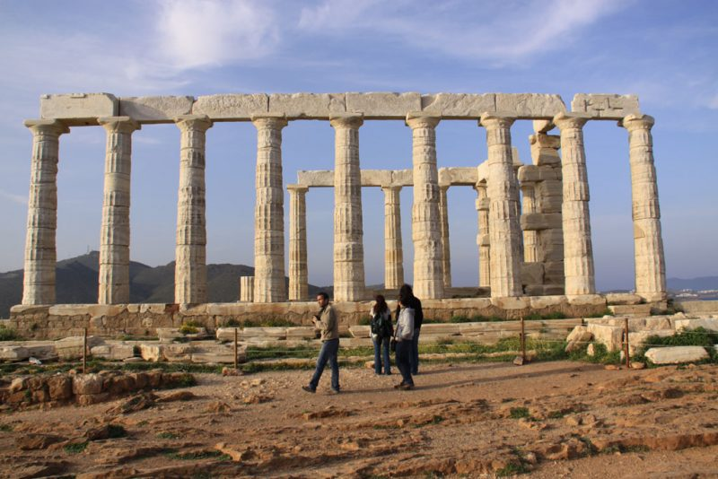 Templo de Poseidón, en el cabo Sounion 1
